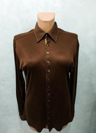 Стильная рубашка от yohji yamamuri, оригинал, р. l, пр-во италия