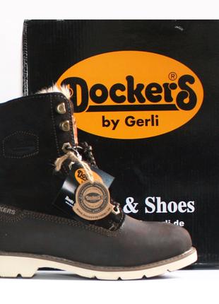 Зимние ботинки dockers оригинал натуральный нубук мех 36-42