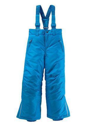 Лыжные штаны 158/164 ярко голубого цвета
