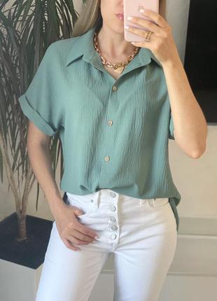 Летняя блузка рубашка жатка