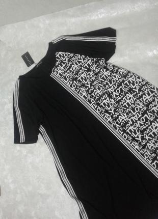 Платье - футболка трикотаж, большой размер, батал