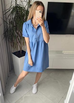 Свободное платье рубашка