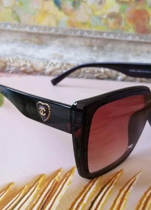 Эксклюзивные коричневые брендовые солнцезащитные женские очки