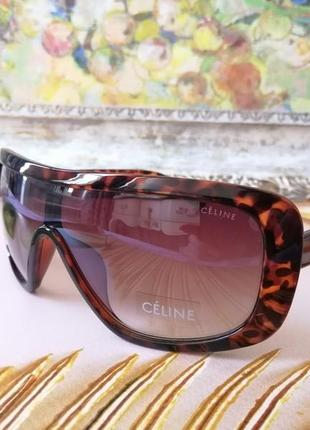 Эксклюзивные брендовые солнцезащитные женские очки маска в черепаховой оправе