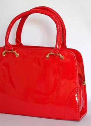 0aa0918e0e6e Женская красная лаковая сумка, цена - 240 грн, #8169633, купить по ...