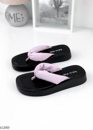 Вьетнамки =netti=, цвет: lilac, натуральная кожа