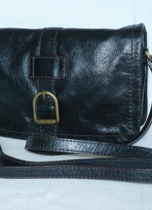 Marks&spencer стильная сумка на длинной ручке через плечо натуральная кожа кроссбоди