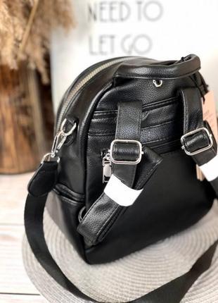 Рюкзак повседневный черный с тиснением3 фото