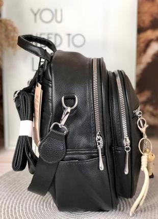 Рюкзак повседневный черный с тиснением4 фото