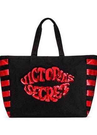 Сумка шоппер пляжная victoria's secret виктория сикрет vs оригинал