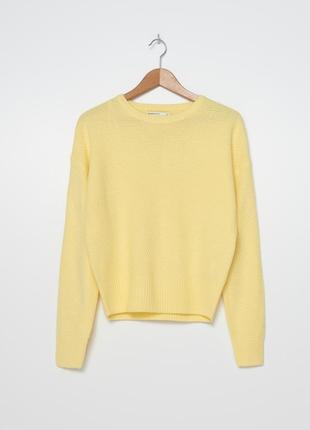 Лимонный джемпер свитер