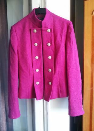 Нарядный стильный шерстяной пиджак / 100%шерсть /mark