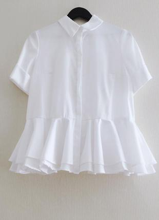 Рубашка белая с воланами | сорочка біла з воланами