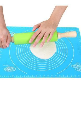 Силиконовый коврик для выпечки в духовке, раскатки теста, пиццы, печенья (30 на 40 см)