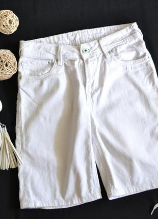 Белые джинсовые шорты pepe jeans р.27 s\m