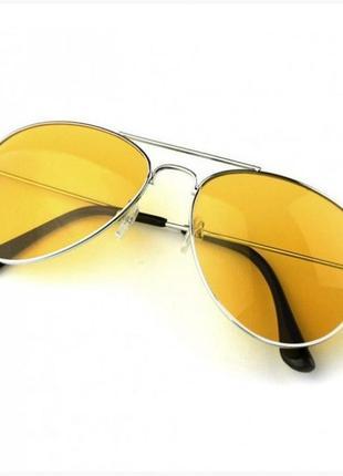 Желтые водительские очки антиблик антифары для водителей (авто)2 фото