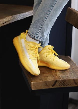 Adidas yeezy boost 350 yellow3 фото