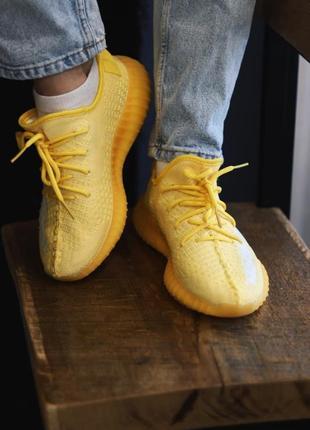 Adidas yeezy boost 350 yellow4 фото