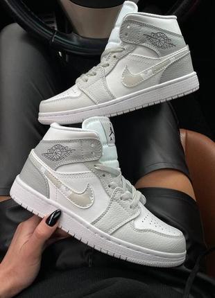 Nike air jordan 1 mid white camo2 фото