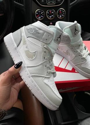 Nike air jordan 1 mid white camo4 фото