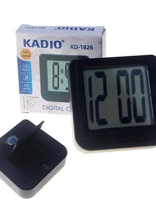 Электронные часы с подставкой и магнитом kadio kd-1826