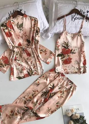 Домашний комплект пижама 🍑 рубашка майка брюки