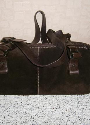 Красивая. стильная сумка из натуральной замши. coccinelle. италия.