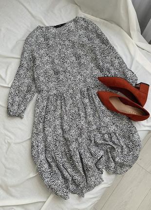 Ярусное платье в принт f&f