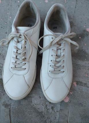 🔥акция 1+1=3🔥 белые кеды, кроссовки h&m