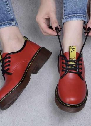 Насыщенно красные туфли / новинка / женская классика