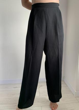 Стильные черные широкие брюки/палацо, на высокий рост, чорні штани.
