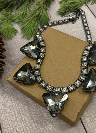 Колье кольє m&s ожерелье кристаллы