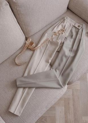 Укороченные брюки двухцветные