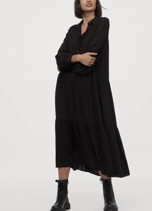 Платье макси h&m,шикарный фасон