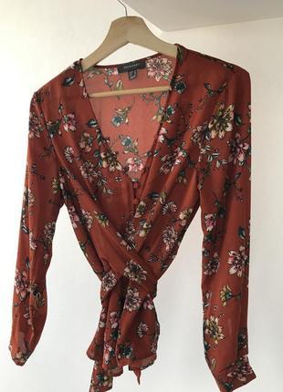 Блуза primark в цветочный принт
