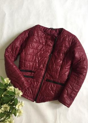Куртка весна косуха цвета марсала,курточка