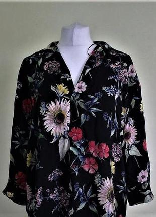 Блуза-рубашка оверсайз в цветочный принт😍zara