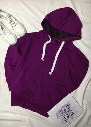 Фиолетовое худи оверсайз