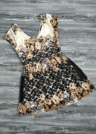 Симпатичне гіпюрове плаття, розмір м