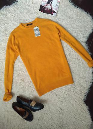 Джемпер свитер гольф cedarwood usa желтый горчичный размер s m