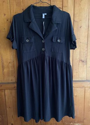 Чёрное платье oversize / asos