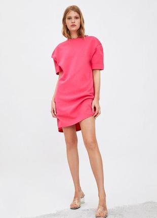 Базовое платье футболка zara 2021