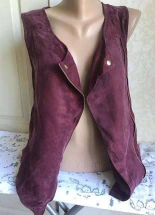 Легкая стильная жилетка с карманами, пол вельвет