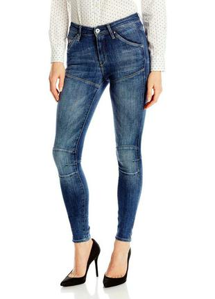 Новые джинсы скинни высокой посадки дорогого бренда  g-star raw