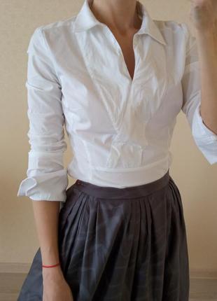 Блуза белая karen millen1 фото