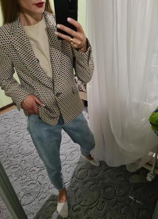 Шикарный удлинённый пиджак, жакет прямого кроя в клетку от  zara