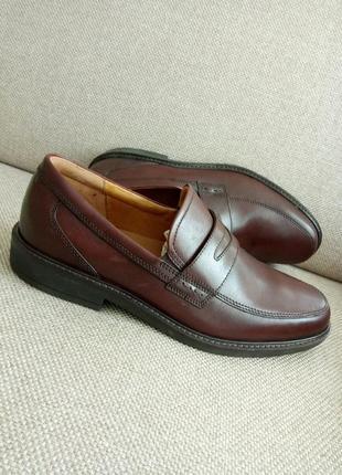 Шкіряні туфлі лофери туфли ecco holton 43розм(621184) оригінал