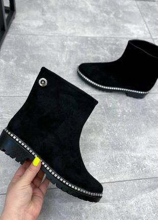 Гумові чобітки чорні жіночі