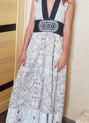 Потрясающее дизайнерское длинное платье сарафан odd molly, швеция