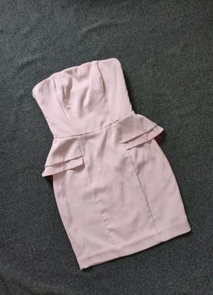 Красивое вечернее платье футляр ,цвет розовая пудра